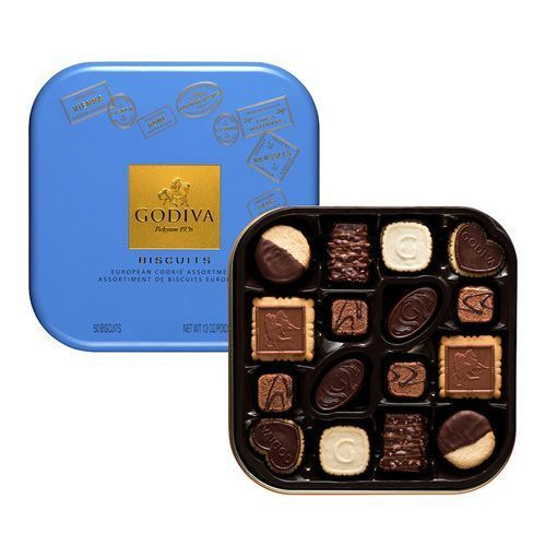 Godiva Luxury Chocolate Biscuits Tin